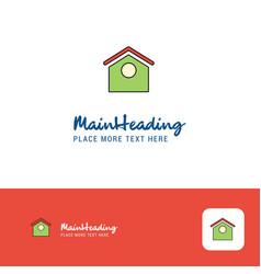 creative dog house logo design flat color logo vector image