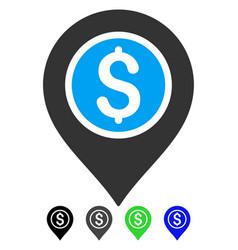 Dollar bank pointer flat icon vector