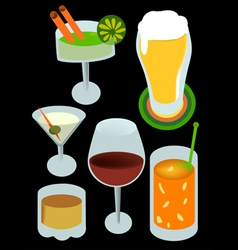 drinks with alcohol vector image