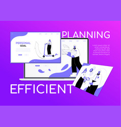 Efficient planning - flat design style colorful vector