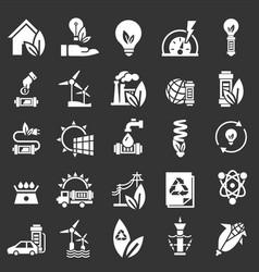 energy saving icon set simple style vector image