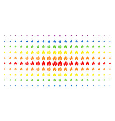 Fire spectrum halftone matrix vector