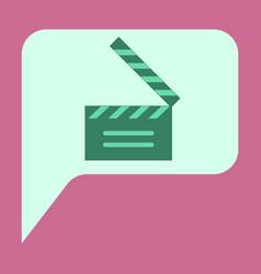 flat icon film slapstick vector image