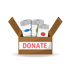 food donation support to charity of the people vector image