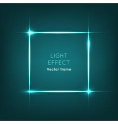 Frame Light Effect on Dark Blue Background vector image vector image