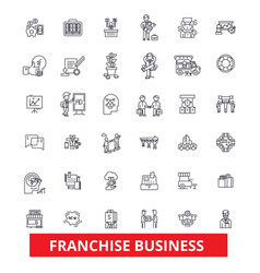 franchise network opportunity small business vector image