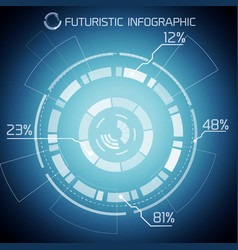 futuristic techno abstract infographics vector image