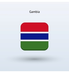 Gambia flag icon vector
