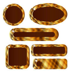 Golden web buttons vector