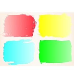 Grunge frame setColor grunge background design vector