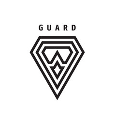 guard shield business concept logo protection vector image