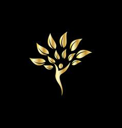 happy people business logo vector image
