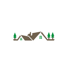 home mountain villa logo vector image