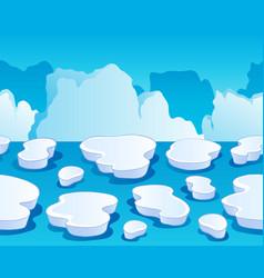 Horizontally seamless sea ice 1 vector