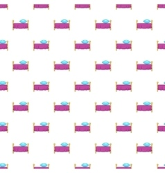Hotel bed pattern cartoon style vector