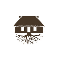 hut icon design template isolated vector image