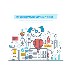 Implementation business project modeling vector