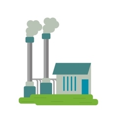 Industrial factory buiding pollution symbol vector