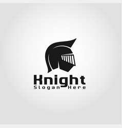 knight - gladiator warrior logo template vector image