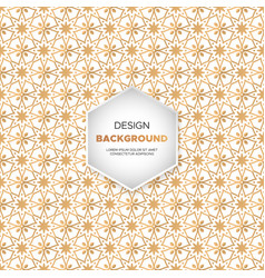 luxury ornamental mandala design background in vector image