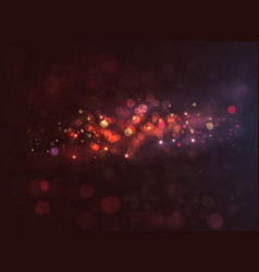 Magic dark background with bokeh and stars vector