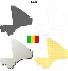Mali outline map set vector image