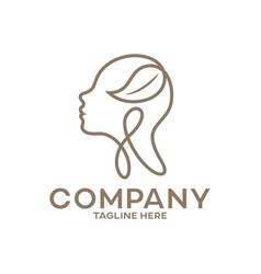 Modern beauty and head a beautiful woman logo vector