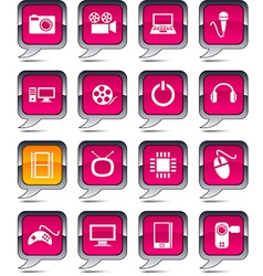Multimedia balloon icons vector image