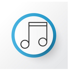 Music icon symbol premium quality isolated note vector
