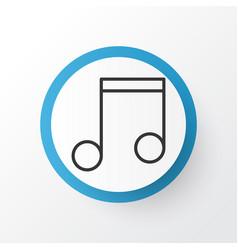 music icon symbol premium quality isolated note vector image