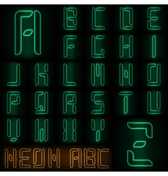 Neon ABC vector image