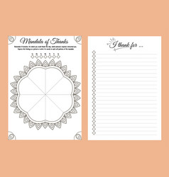 Notebook planner thank day writing vector