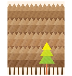 outstanding tree background vector image