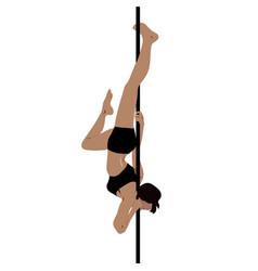 Pole dance woman vector