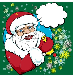 pop art santa vector image