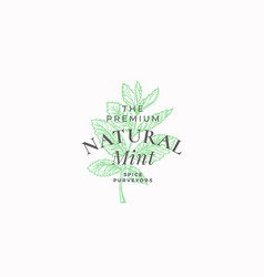 premium natural mint abstract sign symbol vector image