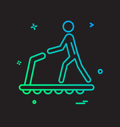 running icon design vector image