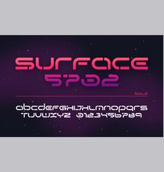 sci-fi futuristic technology alphabet uppercase vector image