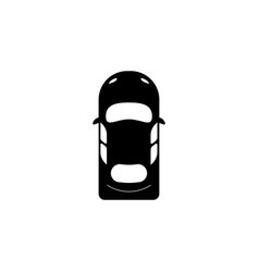 sedan car view from above icon element of popular vector image