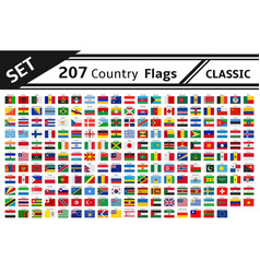 Set 207 country flag vector