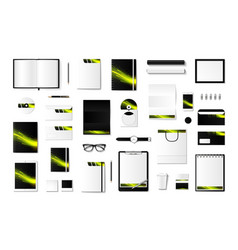 Set mock-ups corporate style vector