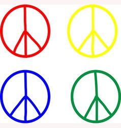 Set peace symbols vector