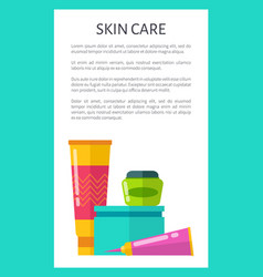 skin care products vertical promotional poster vector image