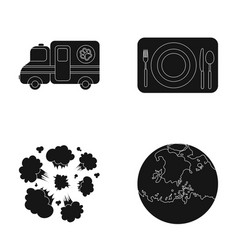 Space veterinary and or web icon in black style vector
