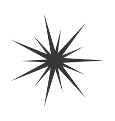 Star manger david silhouette vector