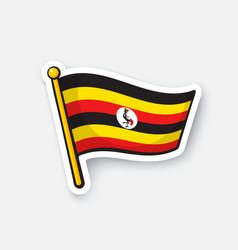 Sticker national flag uganda vector