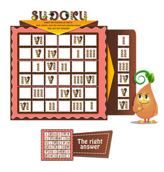 Sudoku game adults candles vector