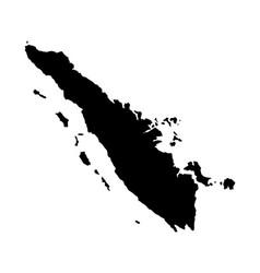 Sumatra island map silhouette vector