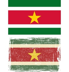 Suriname grunge flag vector