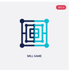 two color mill game icon from entertainment vector image